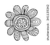 Flower Illustration On Simple...