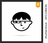 vector icon of man wearing... | Shutterstock .eps vector #341138636
