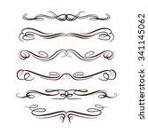 set of elegant flourishes for... | Shutterstock .eps vector #341145062
