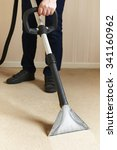 professionally cleaning carpets  | Shutterstock . vector #341160962