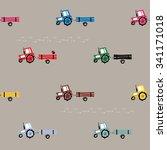 tractor seamless texture | Shutterstock .eps vector #341171018
