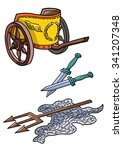gladiator arena fight items... | Shutterstock .eps vector #341207348