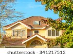 the top of the house or... | Shutterstock . vector #341217512