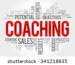 coaching word cloud  business... | Shutterstock .eps vector #341218835