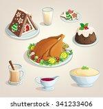 christmas thanksgiving new year ... | Shutterstock .eps vector #341233406