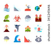 flat style colored icons set of ... | Shutterstock .eps vector #341245646