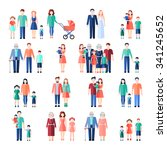 family flat style images set... | Shutterstock .eps vector #341245652