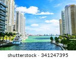 downtown miami along the miami... | Shutterstock . vector #341247395