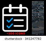date tasks vector icon with...