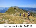 trail runners running in the... | Shutterstock . vector #341249912