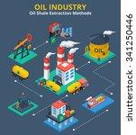 oil industry isometric concept...   Shutterstock .eps vector #341250446