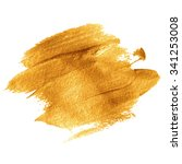 gold acrylic paint.... | Shutterstock . vector #341253008