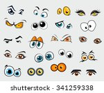 different cartoon eyes. vector...   Shutterstock .eps vector #341259338