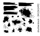 set of ink blots. vector | Shutterstock .eps vector #341261492