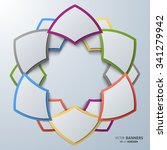 round 3d infographic shape with ... | Shutterstock .eps vector #341279942