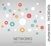 colorful network design concept ... | Shutterstock .eps vector #341282606
