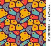 seamless vector pattern with... | Shutterstock .eps vector #341291282