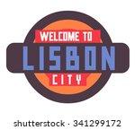 lisbon in portugal is beautiful ... | Shutterstock .eps vector #341299172