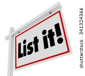 list it words on real estate... | Shutterstock . vector #341324366