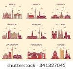 german cities. berlin  munich ...   Shutterstock .eps vector #341327045