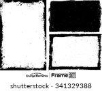 grunge frame texture set  ...   Shutterstock .eps vector #341329388