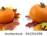 decoration of pumpkins for... | Shutterstock . vector #341331458