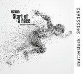 running man  particle divergent ... | Shutterstock .eps vector #341331692