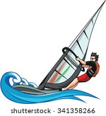 Wind Surfing Vector...