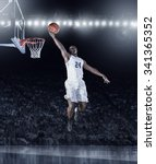 athletic african american...   Shutterstock . vector #341365352