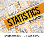 statistics word cloud  business ... | Shutterstock .eps vector #341365592