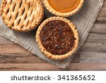 three fresh baked thanksgiving... | Shutterstock . vector #341365652