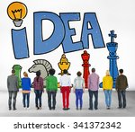 idea thought motivation mission ... | Shutterstock . vector #341372342