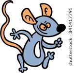 grey funny mouse for children... | Shutterstock .eps vector #341417795
