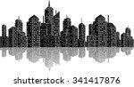 cityscape skyline | Shutterstock .eps vector #341417876