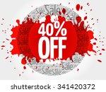 40  off word cloud  business... | Shutterstock .eps vector #341420372
