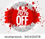 70  off word cloud  business... | Shutterstock .eps vector #341420378