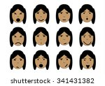 girl face emotions | Shutterstock . vector #341431382