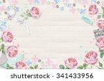 delicate floral frame with... | Shutterstock . vector #341433956
