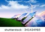 renewable energy concept  ... | Shutterstock . vector #341434985