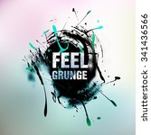 abstract retro grunge background | Shutterstock .eps vector #341436566