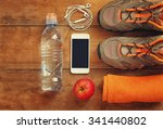 Fitness Concept With Mobile...