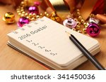 new year's goals with colorful... | Shutterstock . vector #341450036