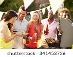 mature friends enjoying outdoor ... | Shutterstock . vector #341453726