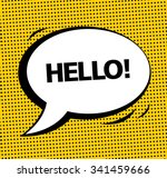 hello  vector speech bubble... | Shutterstock .eps vector #341459666