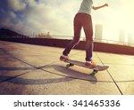 skateboarder skateboarding at... | Shutterstock . vector #341465336