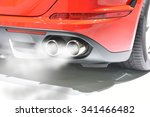exhaust fumes pipe during...