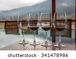 a line of wine glass for... | Shutterstock . vector #341478986