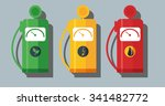 different types of fuel for... | Shutterstock .eps vector #341482772