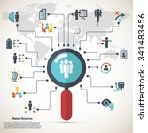 human resource   conceptual... | Shutterstock .eps vector #341483456
