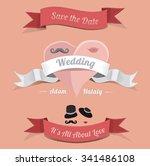 wedding graphic set  hearts ...   Shutterstock .eps vector #341486108